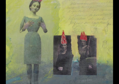 """Made Without Hands, 12"""" x 12"""", Mixed Media, 2013"""