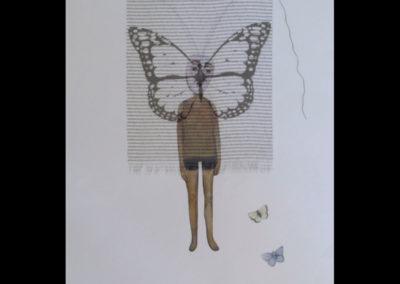 "Metamorphosis, 22"" x 30"", Mixed Media, 2013"