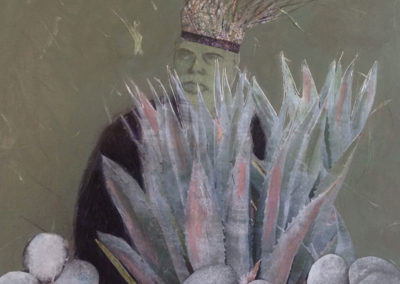 """King of the Desert, 12"""" x 12"""", Mixed Media, 2012"""